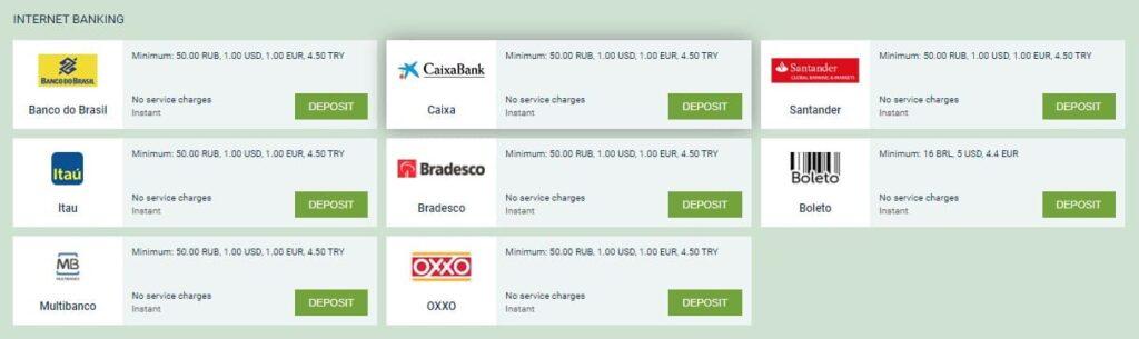 INTERNET BANKING deposit melbet