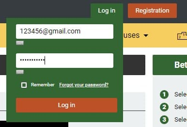 After registering you must log in Melbet account