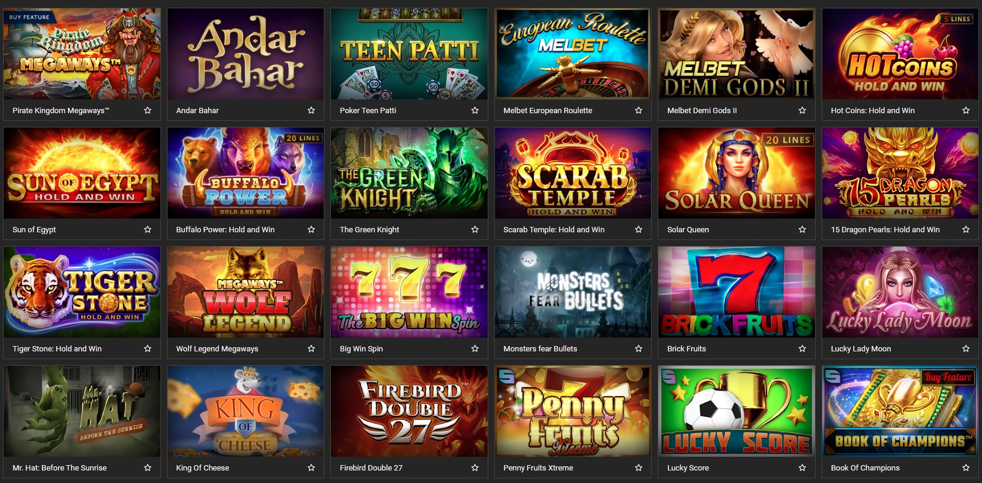 Melbet casino online in India